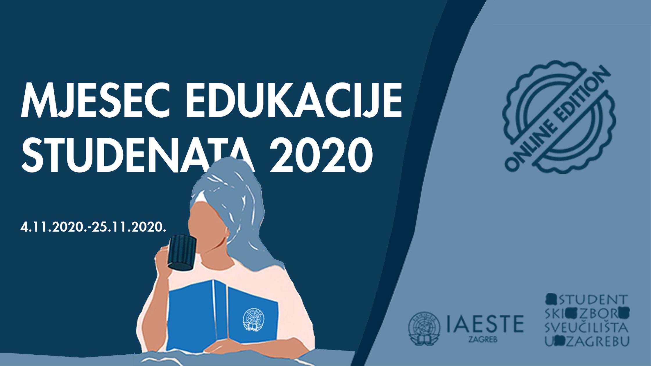 Najava: Mjesec edukacije studenata 2020 – ONLINE